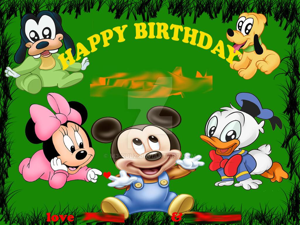 baby disney birthday card by mrulz on deviantart, Birthday card