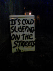 Dumped Fridge - It's cold sleeping on the streets by naesk