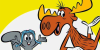 Rocky and Bullwinkle stamp by Csodaaut