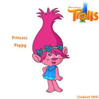 Dreamworks' Trolls - Princess Poppy in SE style by Csodaaut