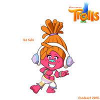 Dreamworks' Trolls - DJ Suki in SE style by Csodaaut