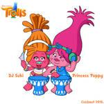 Dreamworks' Trolls - DJ Suki and Poppy in SE style