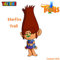 Starfire as Troll by Csodaaut