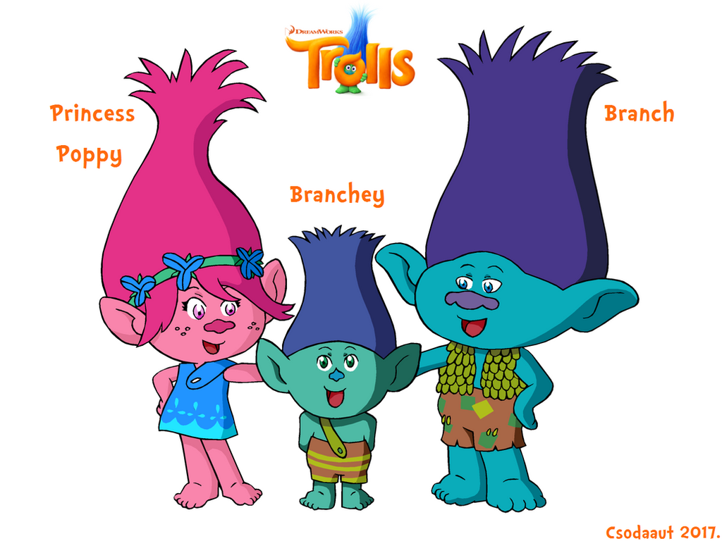 Trolls   Poppy And Her Family In SE Style By Csodaaut ...
