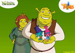 DWA Crossover - Shrek, Fiona, Poppy and Branch