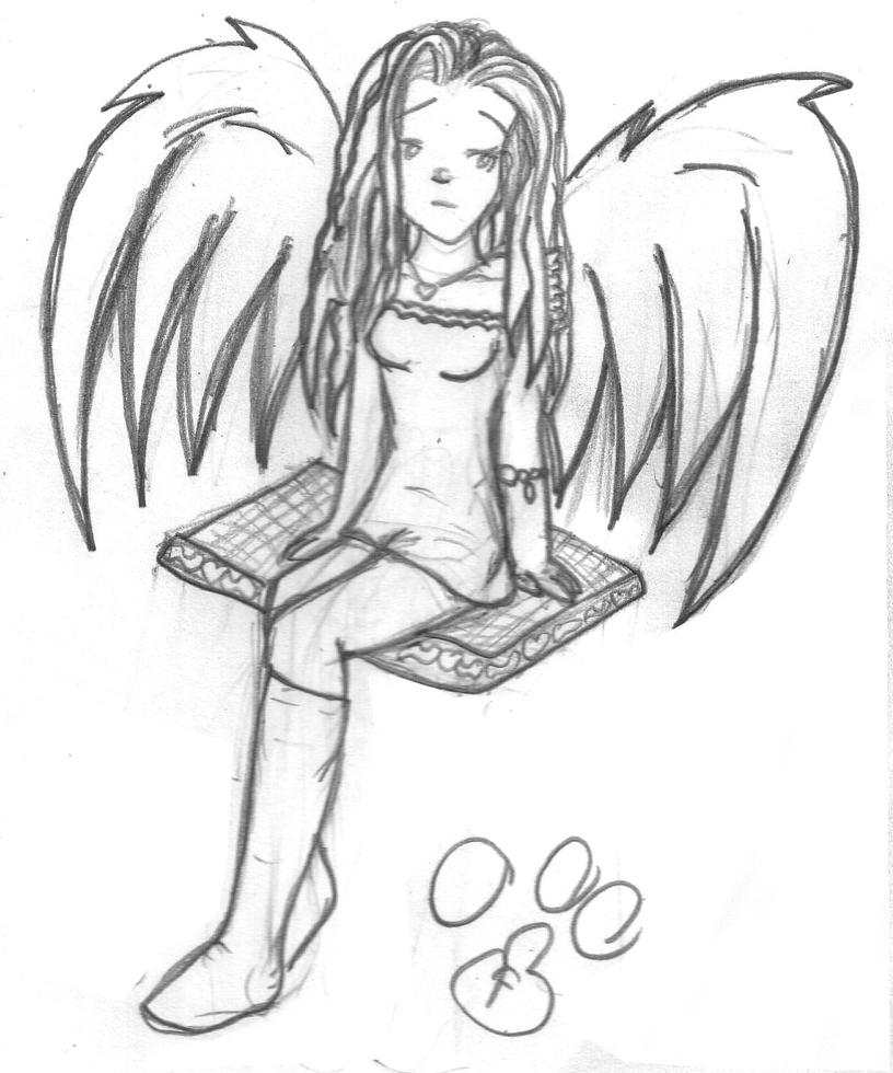 This is a photo of Lucrative Sad Angel Drawing