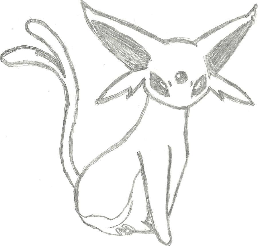 Espeon Sketch by CoolMan666
