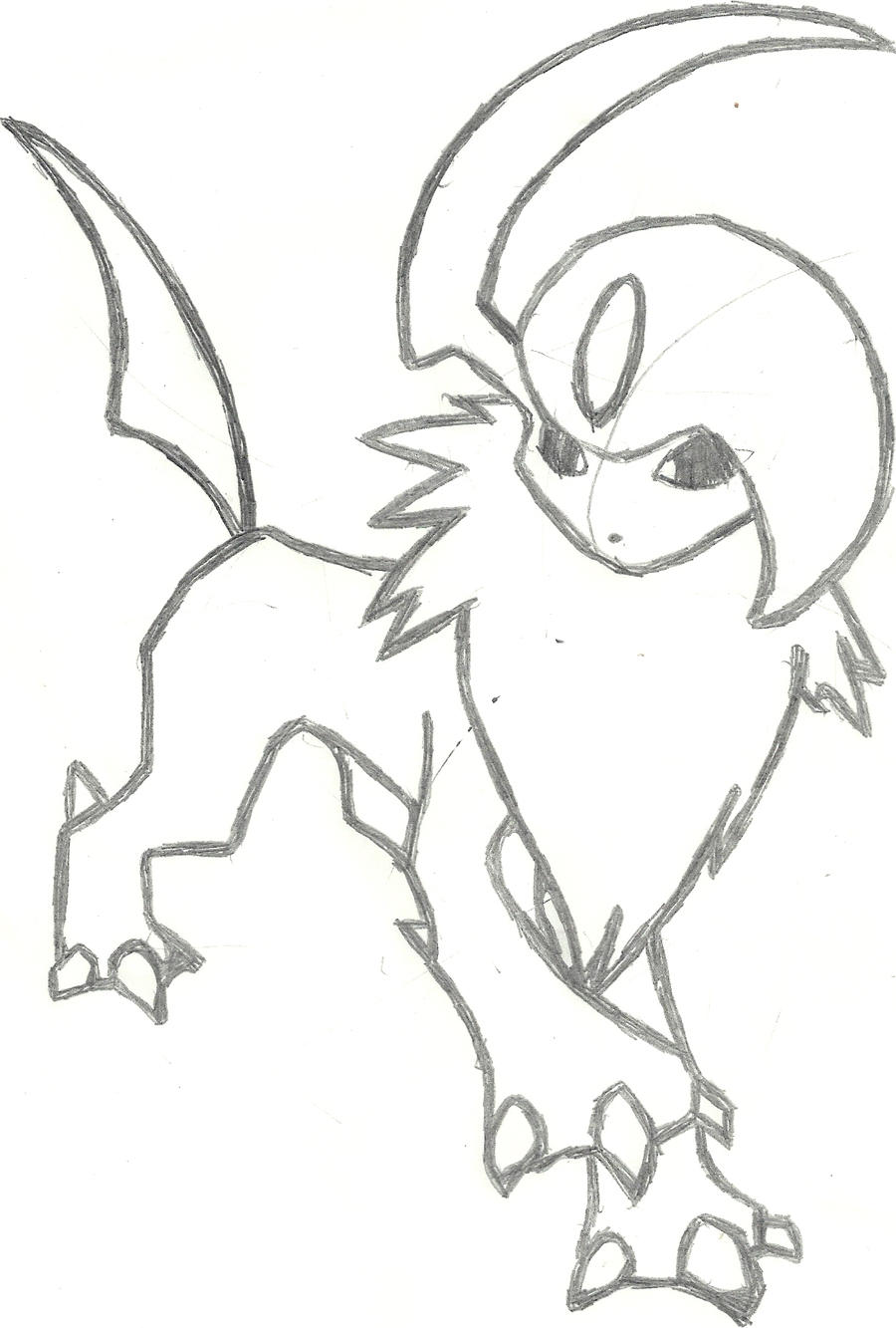 coloring pages absol - photo#14