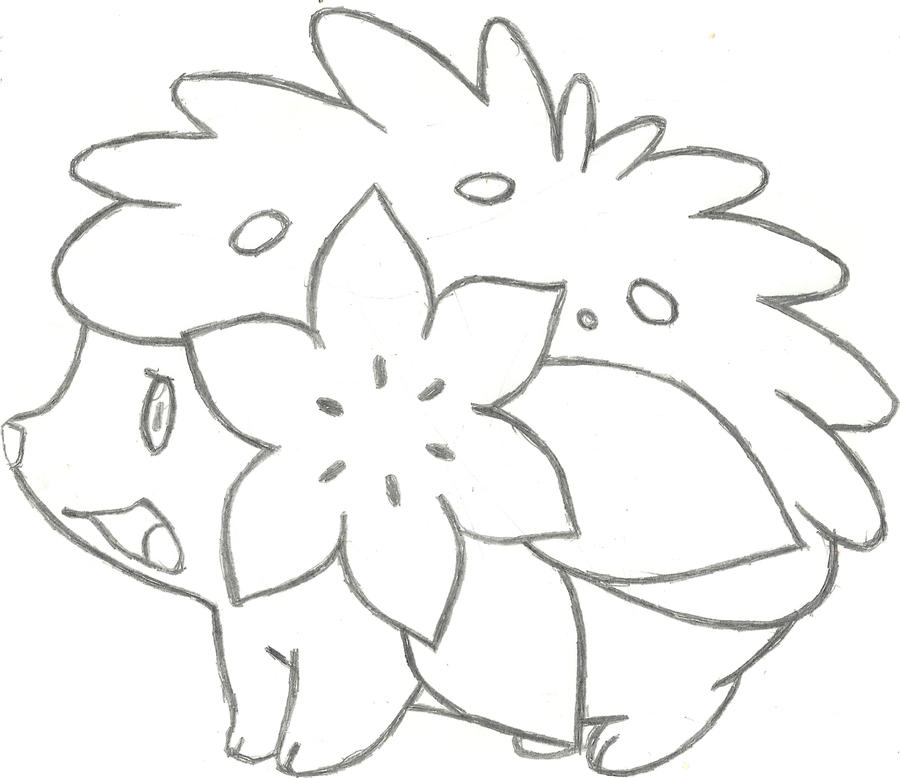 pokemon coloring pages shaymin