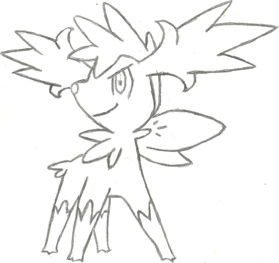 Shaymin Sky Form Coloring Pages | Coloring Page