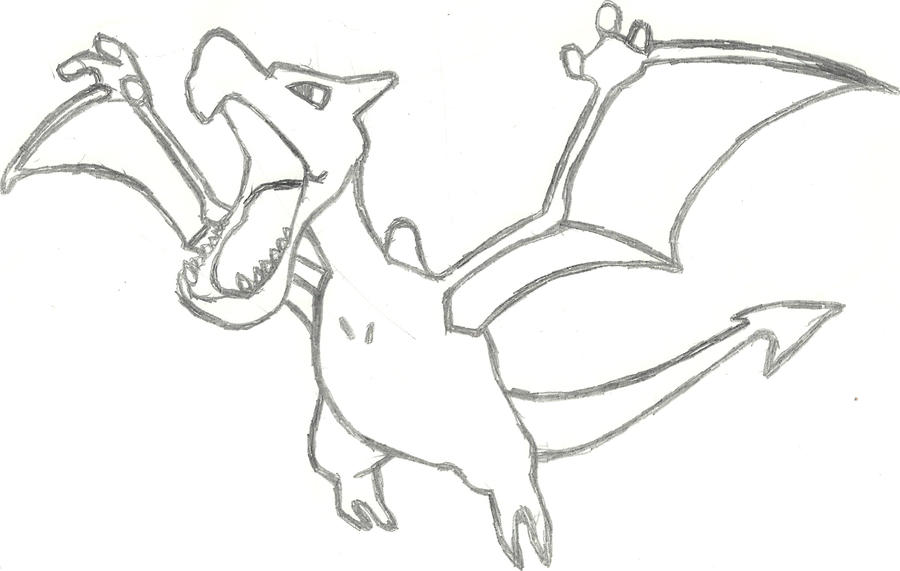 Aerodactyl Sketch by CoolMan666