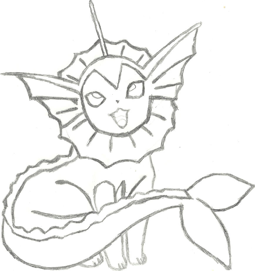 pokemon vaporeon coloring pages - photo#9