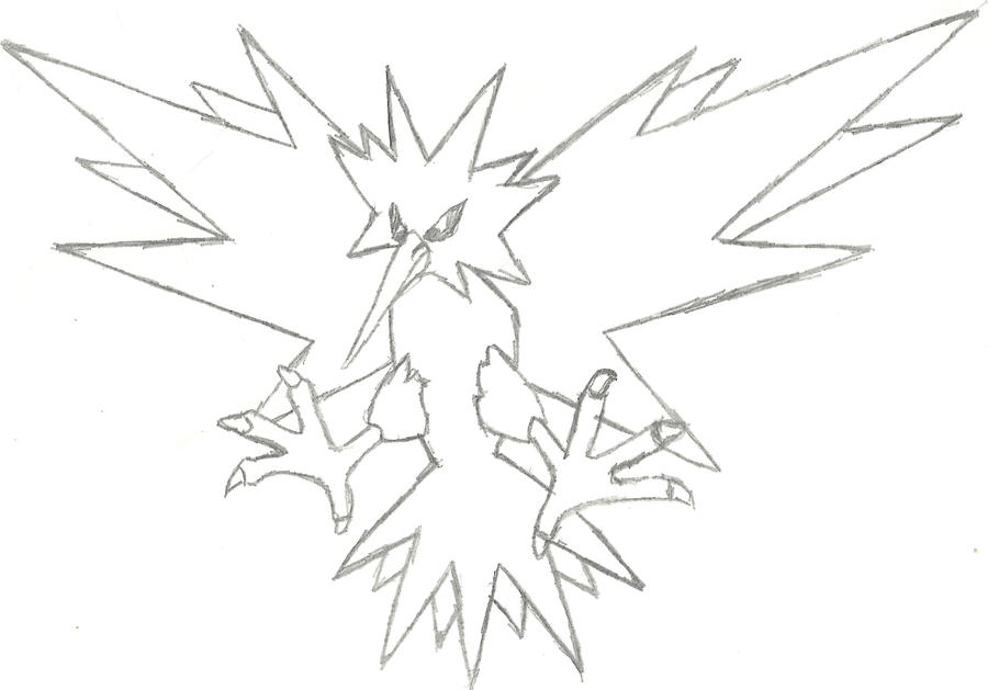 zapdos coloring pages - photo #28
