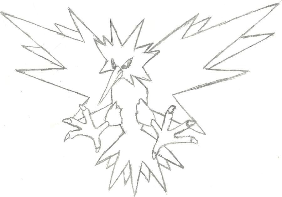Zapdos Sketch by CoolMan666