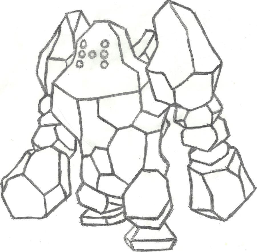 How To Draw Pokemon Regirock Sketch