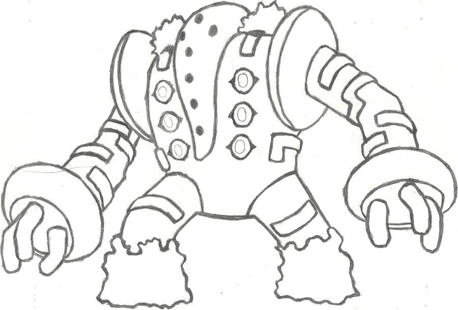 regigigas coloring pages sketch coloring page