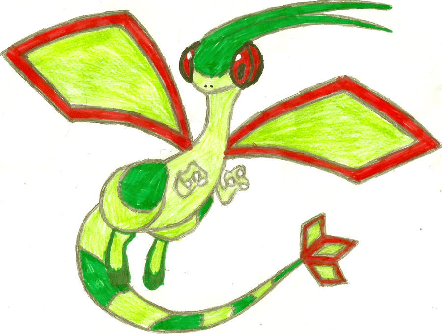 Flygon Coloured by CoolMan666