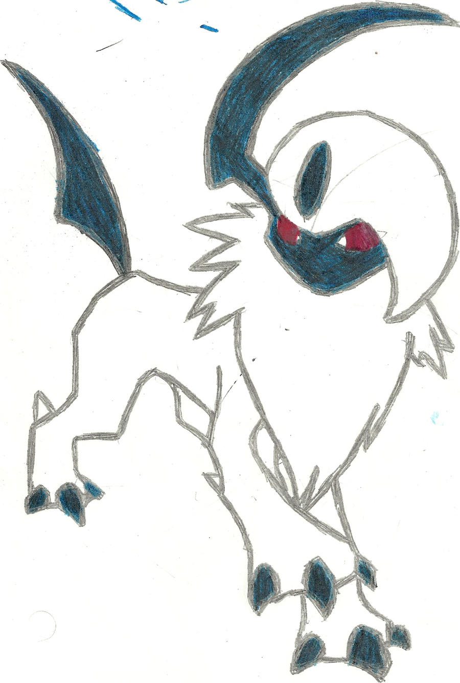 Absol Coloured by CoolMan666