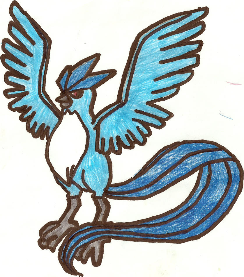 Articuno Coloured by CoolMan666