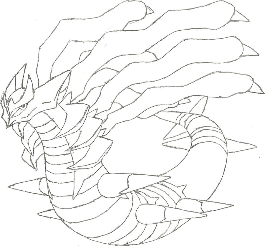 coloring pages giratina - photo#27