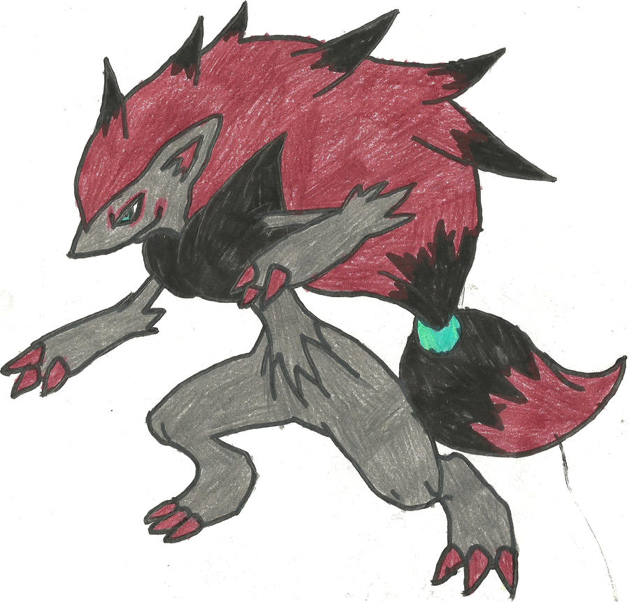 Zoroark Coloured by CoolMan666