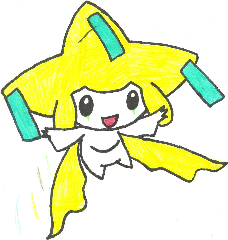 Jirachi Coloured by CoolMan666