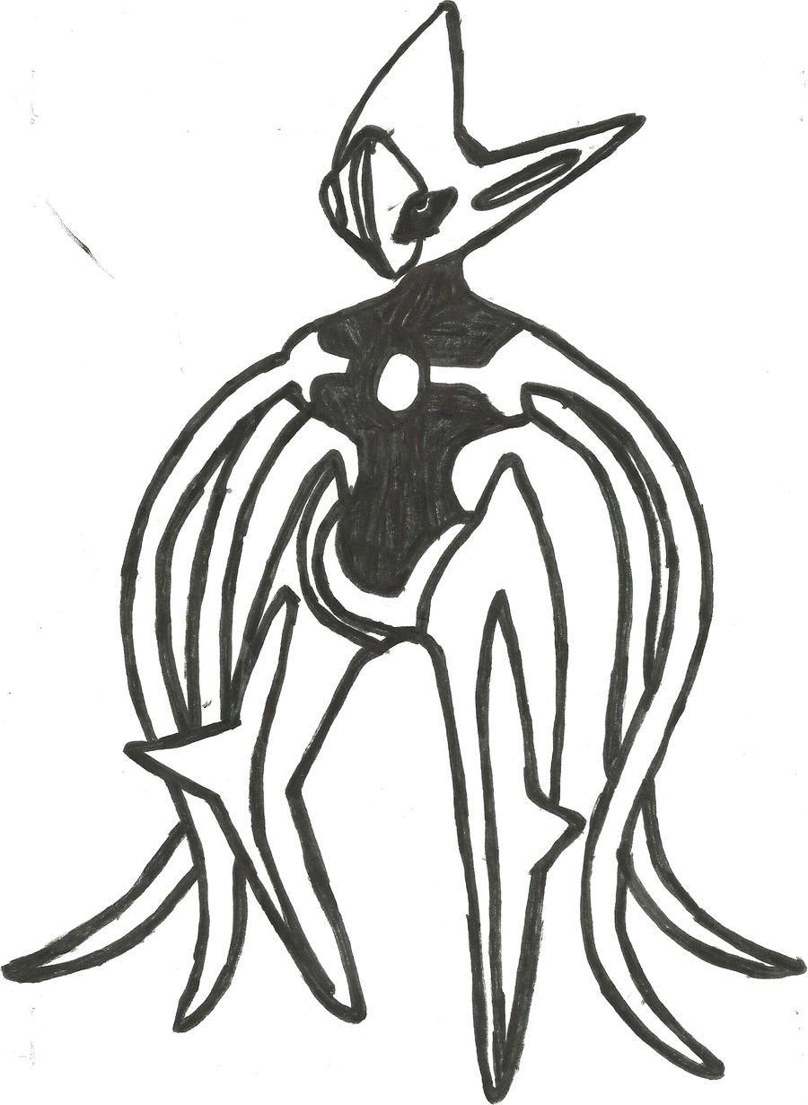deoxys attack form sketch by coolman666 deoxys attack form sketch by coolman666