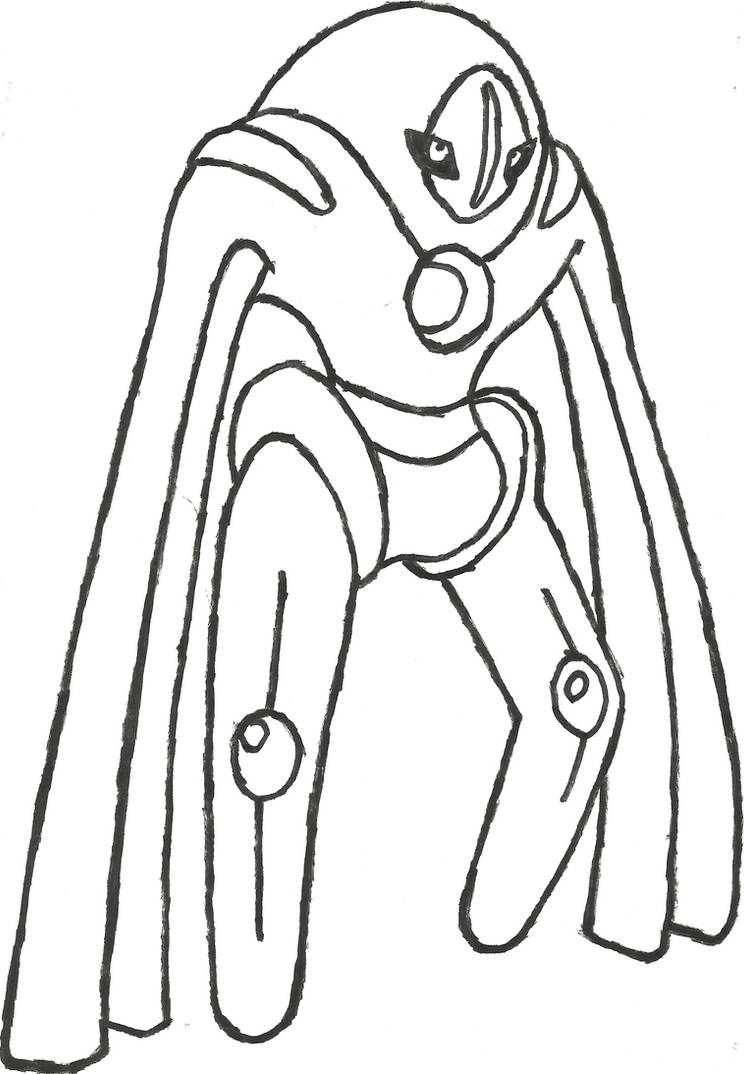 deoxys defense form sketch by coolman666 on deviantart