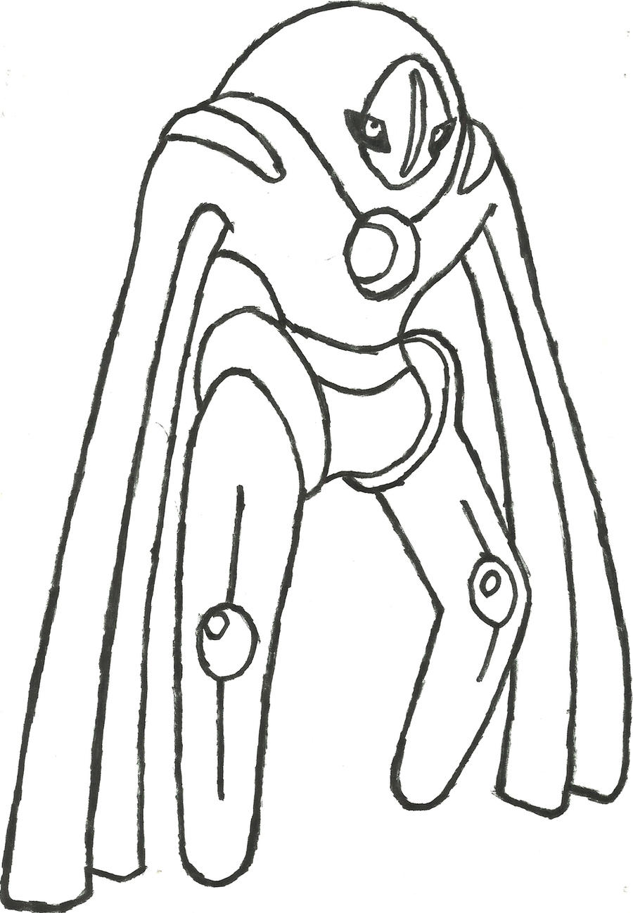 Pokemon coloring pages deoxys - S Pokemon Deoxys Deoxys Coloring Page