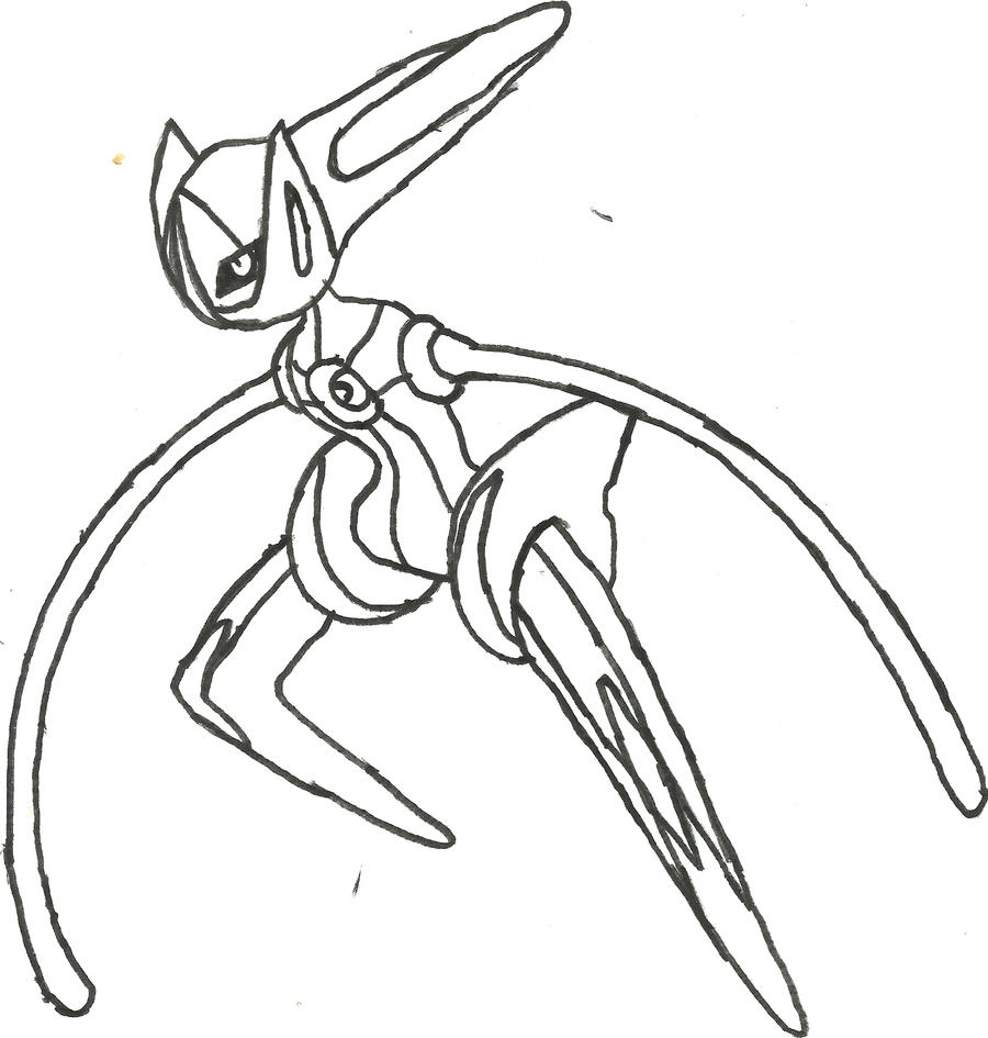 Deoxys Speed Form Sketch by CoolMan666