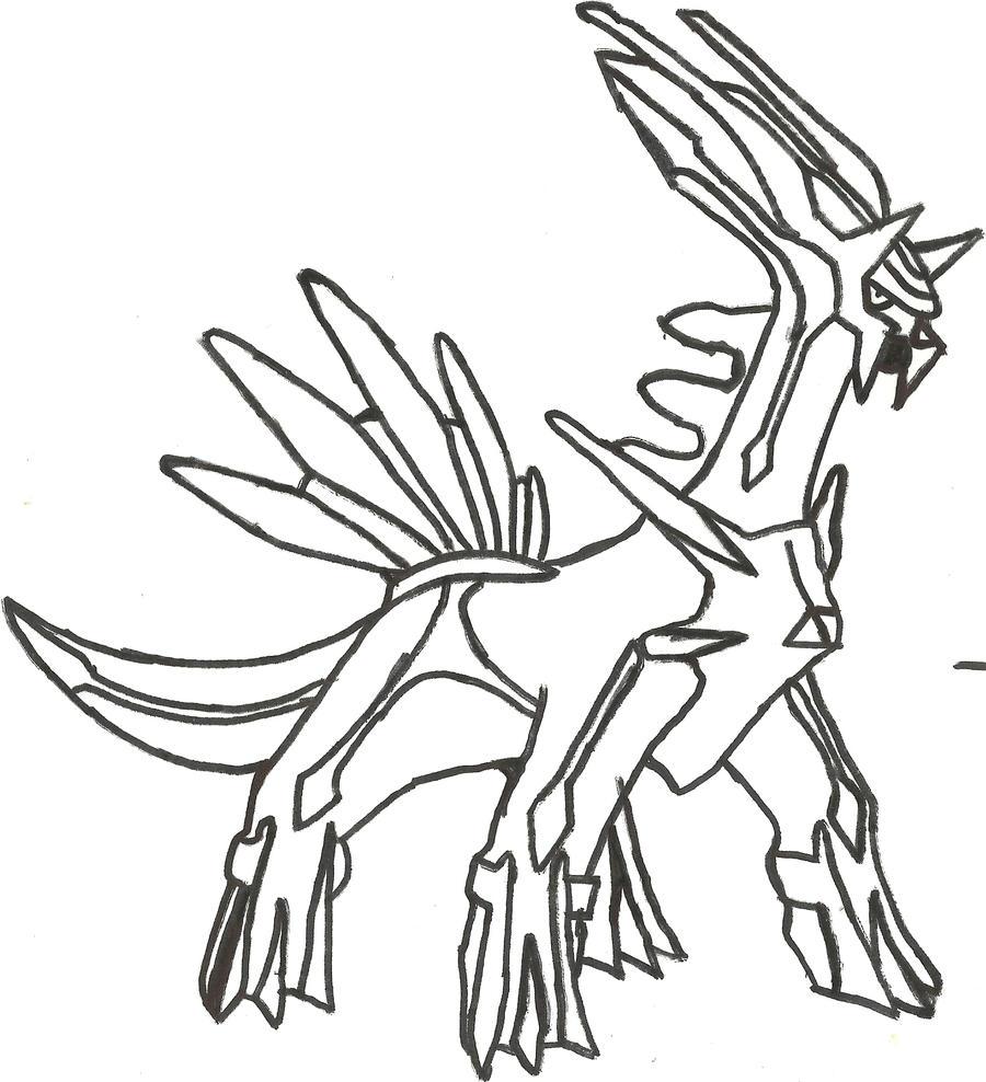 Dialga Sketch by CoolMan666 on DeviantArt