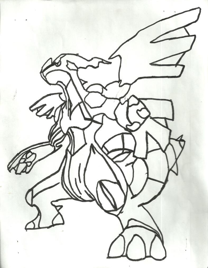 Zekrom Sketch by CoolMan666