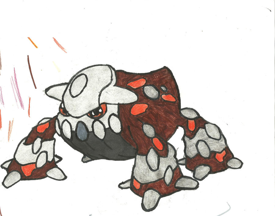 Heatran Coloured by CoolMan666