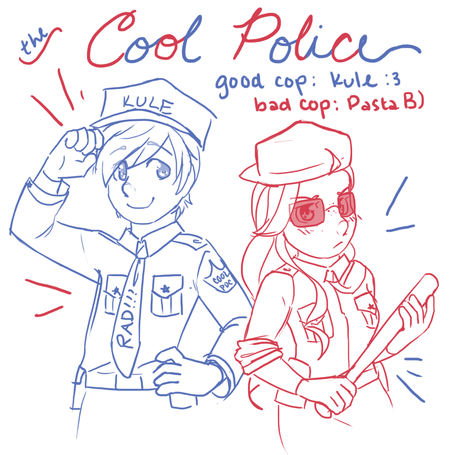 the cool police are on patrol!! by PastaIsALie