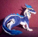 Blue wingless Dragon 4 by RainBeforeDawn