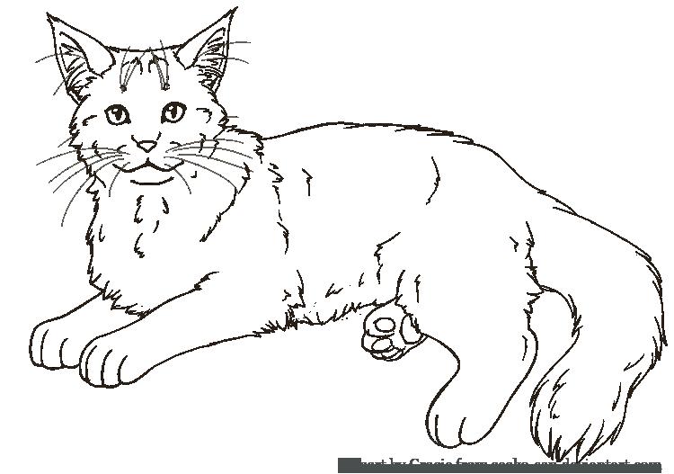 Long Cat Lineart