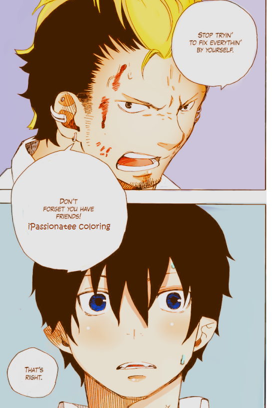 ao no exorcist Manga coloring by iPassionatee on DeviantArt