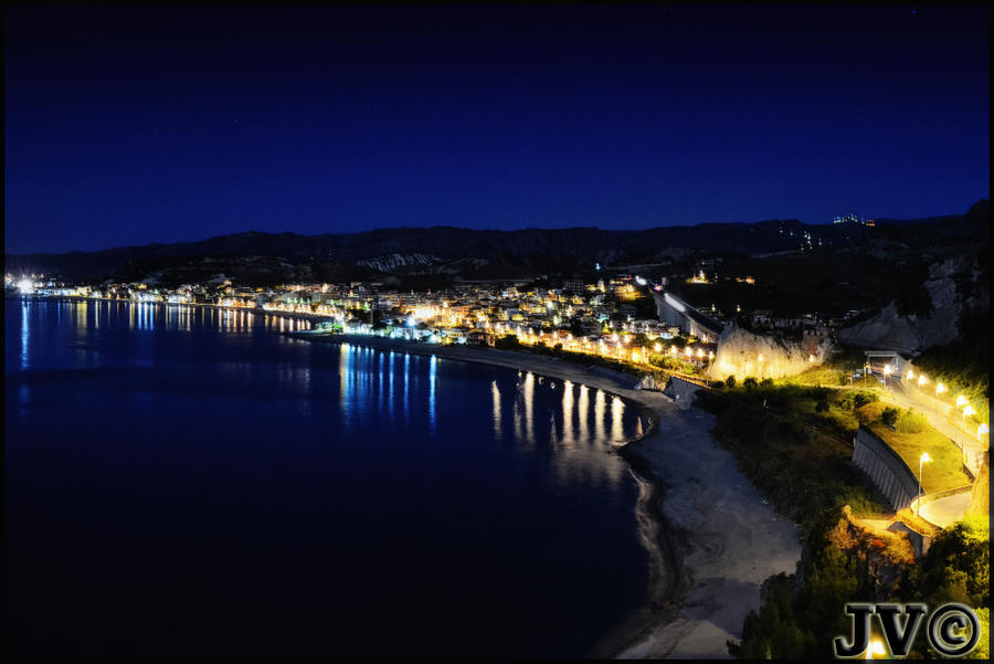 Bova Marina, the night by JohnnyVadala