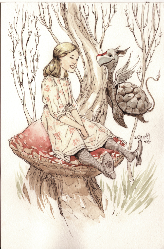 Wonderful Illustration of Alice in Wonderland
