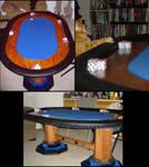 Red Oak Poker Table