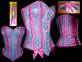 Silk and Lace Corset by WaistedSpace