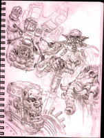 9' X 12' sketchbook page by MikeFaille