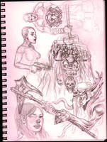 9' X 12' sketchbook page 2 by MikeFaille