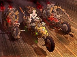 Dwarf Biker by MikeFaille