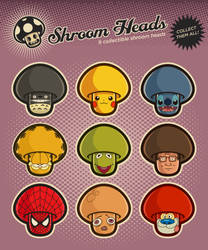 Shroom heads (Set 2) by mictoon
