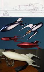 dog42a 's rocketship xk 1 V-1 by Marian87