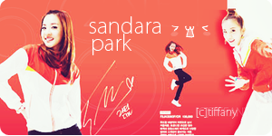 2NE1 Sandara Park Banner by tifflebear