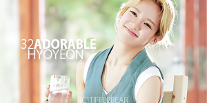 SNSD Hyoyeon Banner 5 by tifflebear