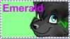 Emerald stamp by Bonday