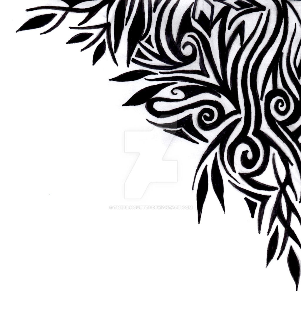 tribal border corner motif by thesilhouett3 on deviantart